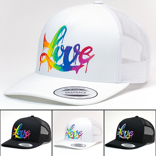 Hand-painted 'Power of Love 2.0' Hats