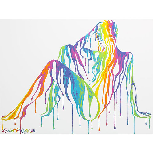 'Psychameleon XV' Acrylic Painting