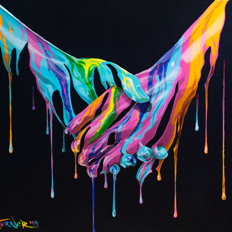 Take My Hand painting by Shane Turner