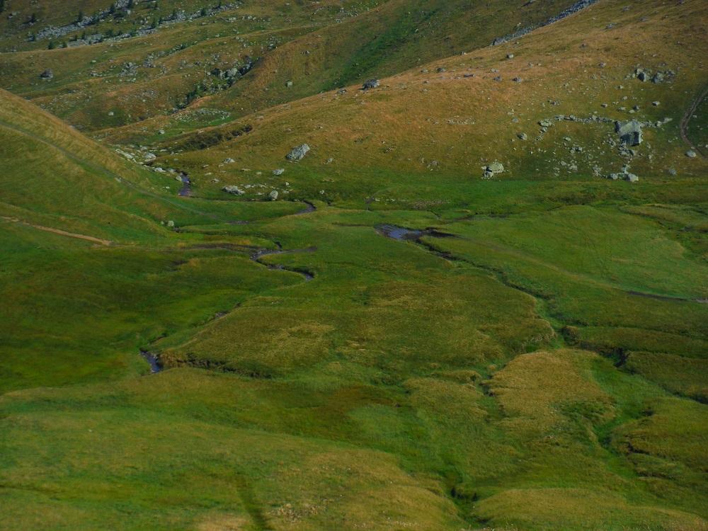 Řeka v údolí u Sedla Lepii