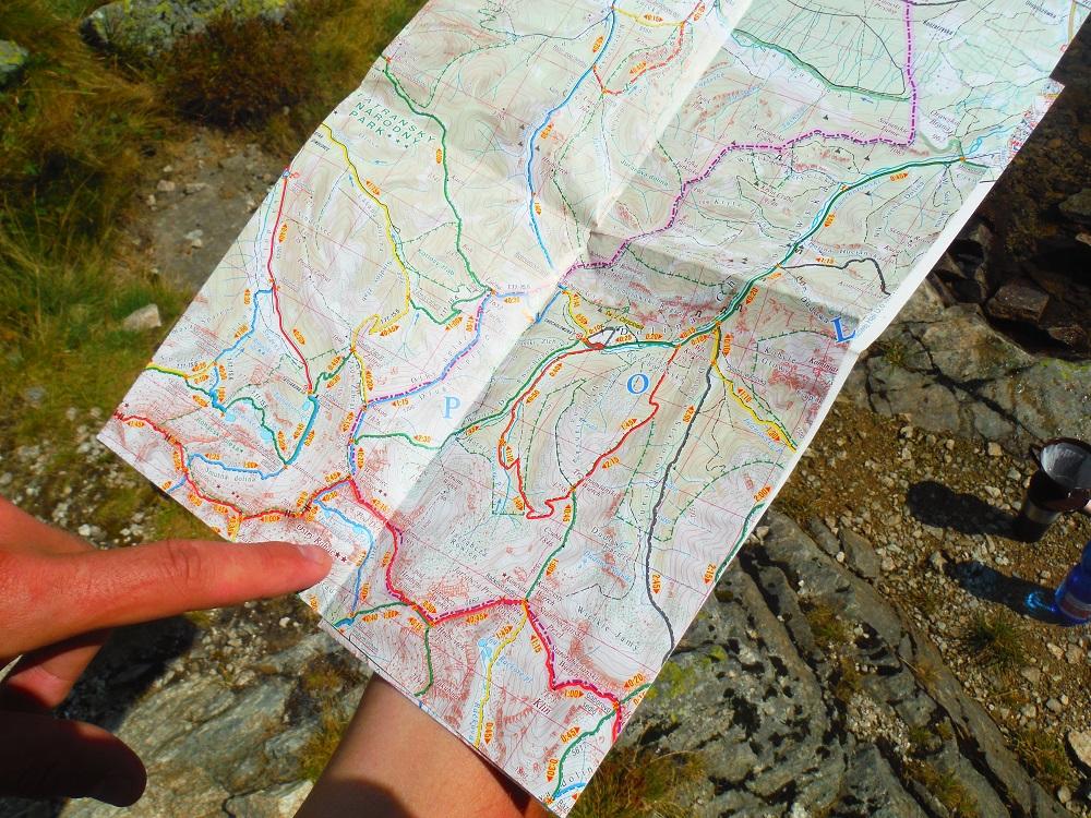 Mapa hřebene