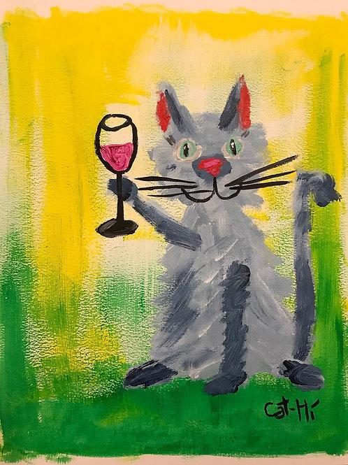 Cheers Cat - Print