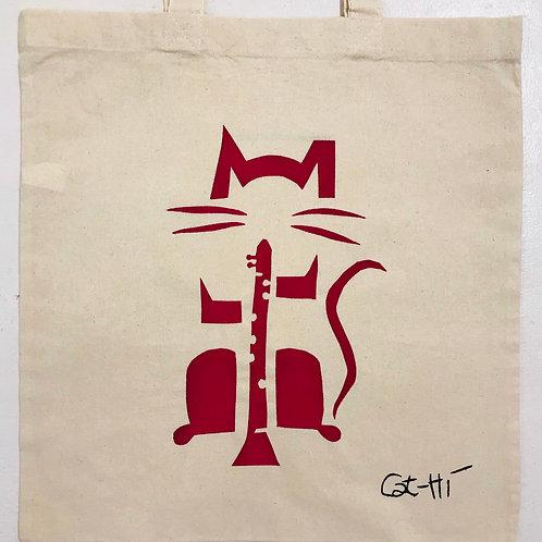 Cat-Hi ClarinetCat Totebag