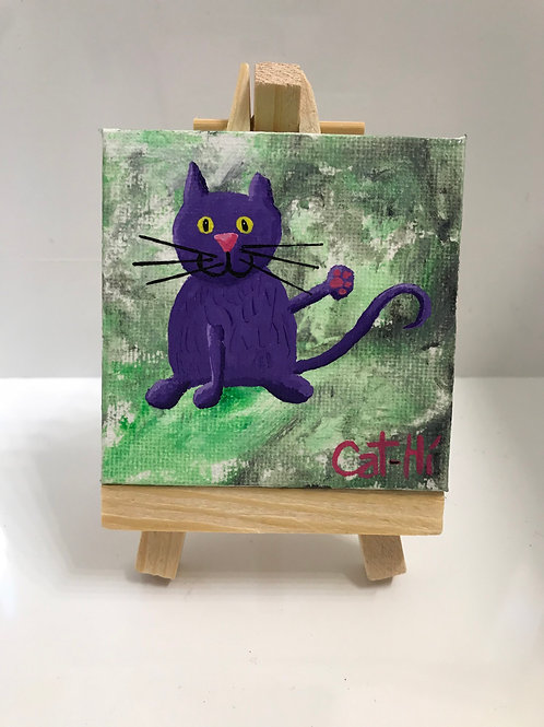 Cat-Hi Mini Painting