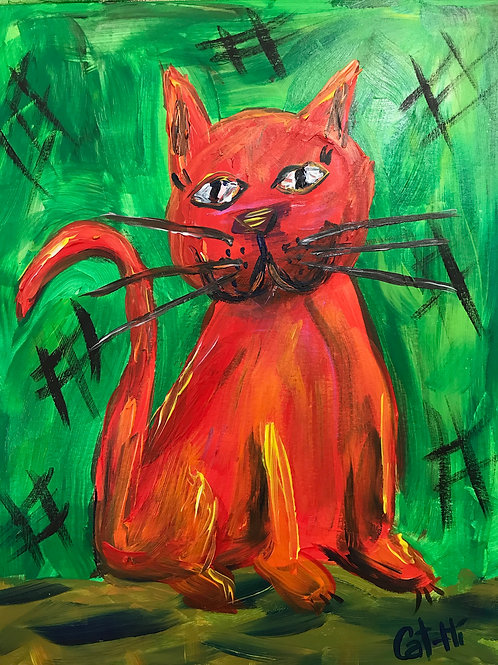 Happy Red Cat