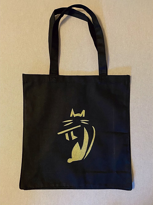 Deluxe FluteCat tote bag - black