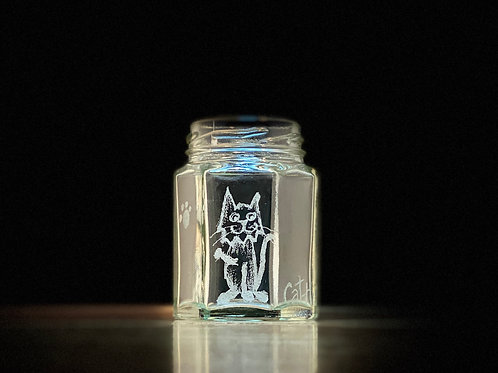 Etched Tiny Jars