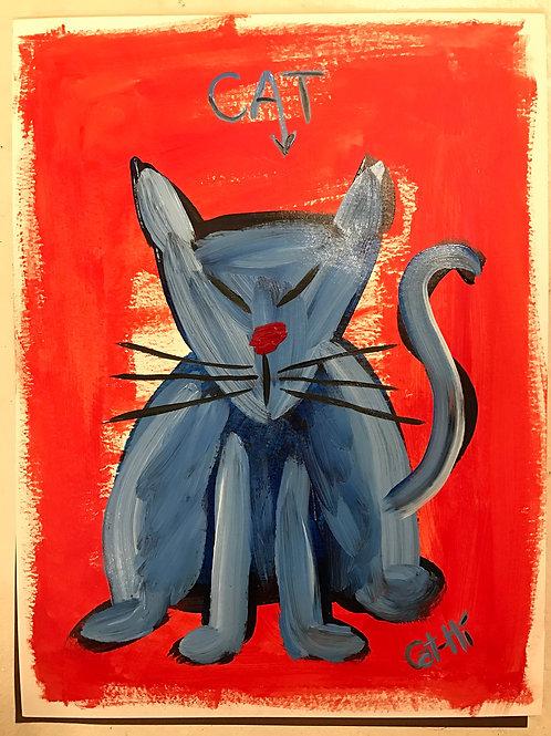 Oriental Cat - print