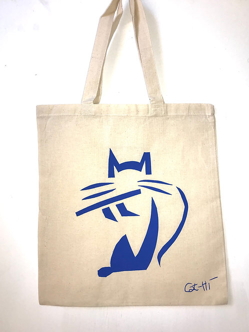 Cat-Hi flutecat tote bag