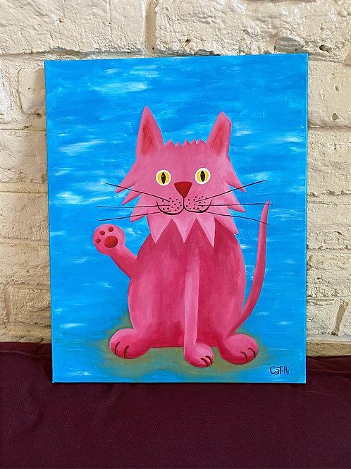 Canvas Cat-Hi Painting
