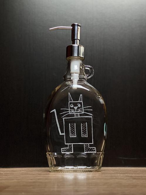 Etched Cat-Hi Dispenser bottles