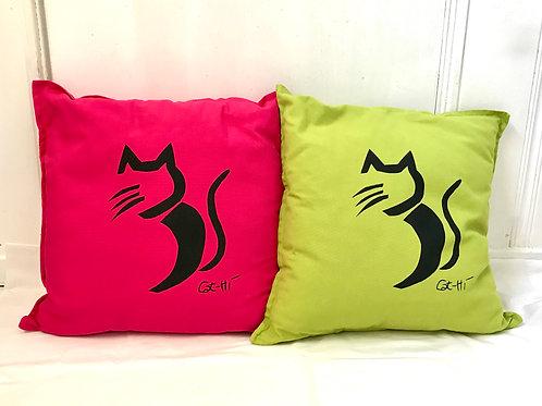 Cat-Hi Throw Pillows