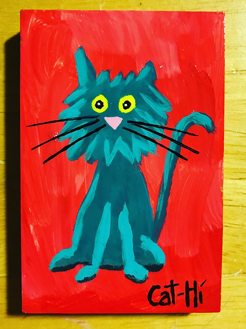 Mini Cat Painting on wood
