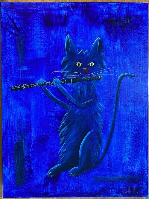 Blue FluteCat