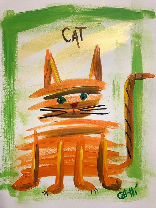Orange Liney Cat