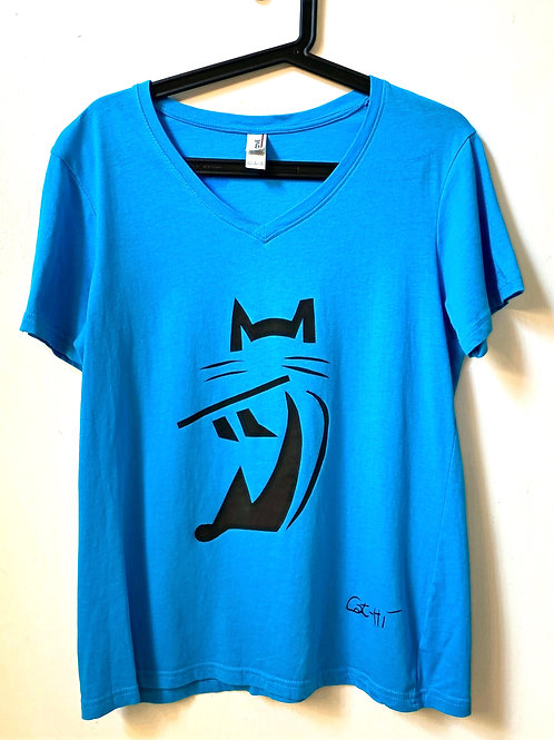 FluteCat v neck - women