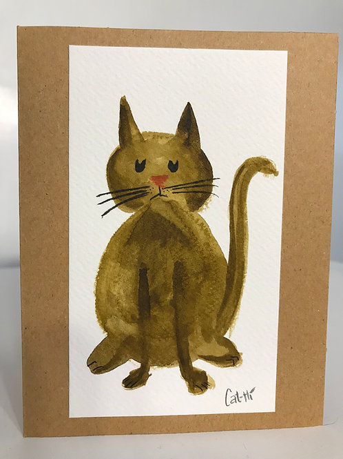 Cat-Hi Handmade Greeting Card