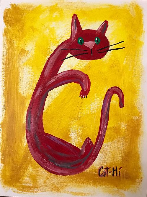 Rocking Red Cat