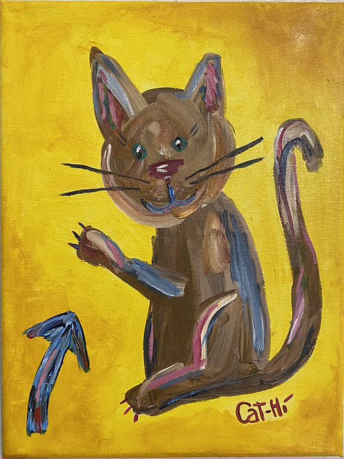 This Cat canvas painting