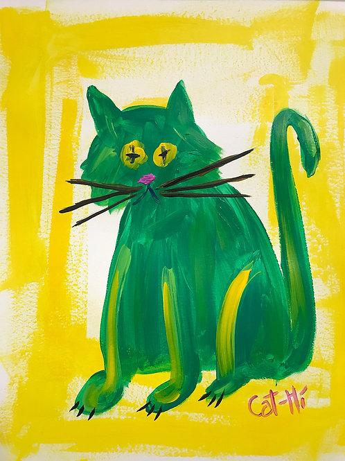Green Sitty Kitty