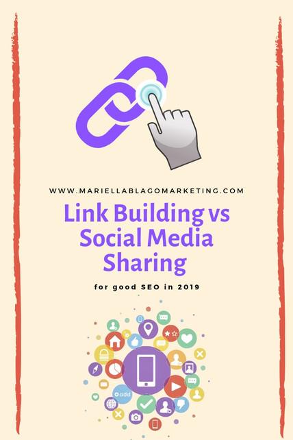 Link Building vs Social Media Activity for Good SEO in 2019