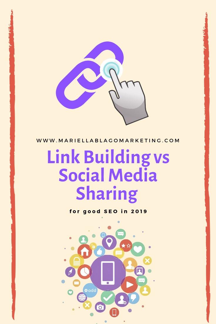 link building vs social media