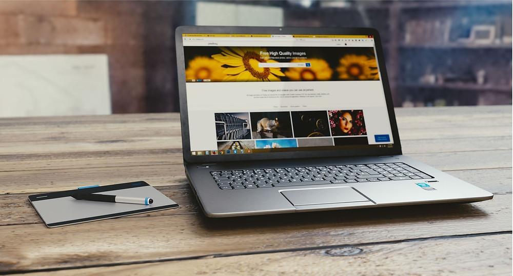 Sleek design of a website