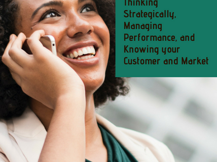 BEING YOUR OWN BOSS: Thinking Strategically, Managing Performance, and Knowing your Customer and Mar