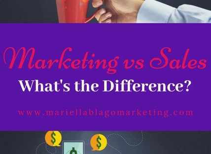 Marketing vs Sales - What's the Difference?