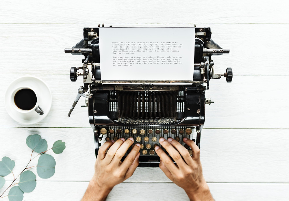content creation on a typewriter