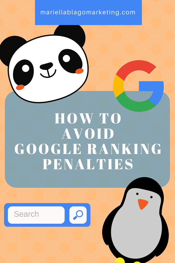 how to avoid google ranking penalties