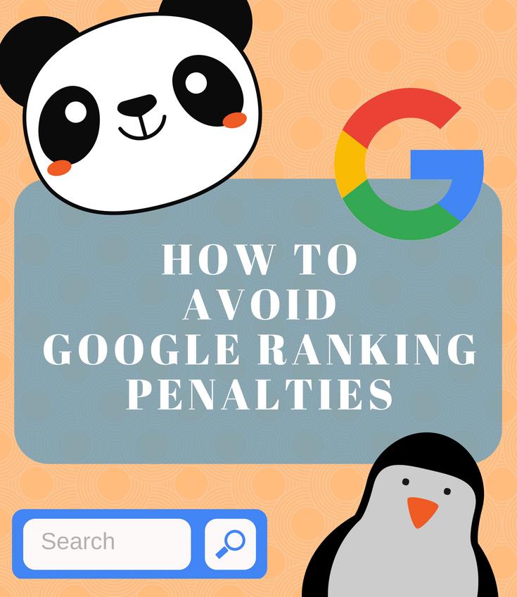 How to Avoid Google Ranking Penalty