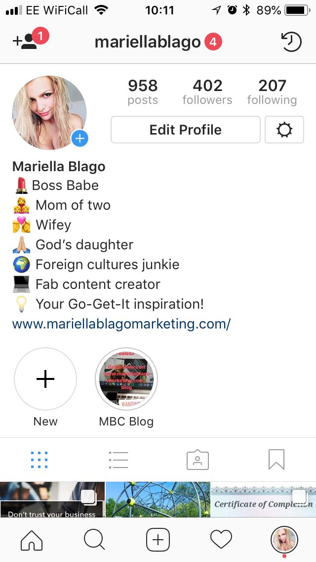 Mariella Blago Instagram