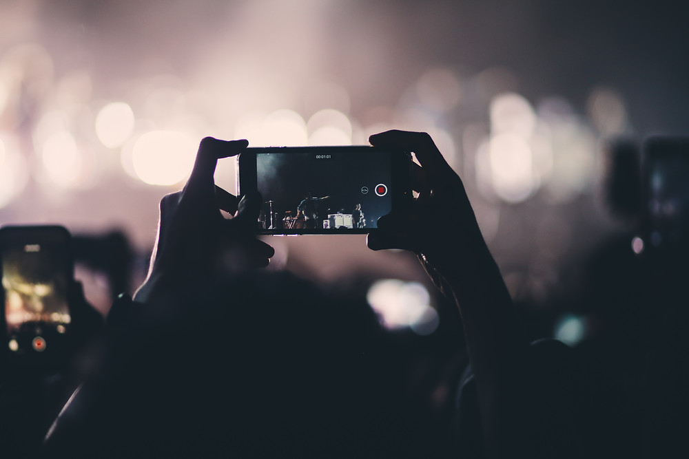 recording a live video on a smart phone