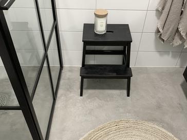 Nytt badrum med microcement!