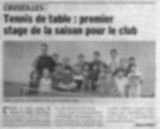 Article Stage Toussaint CTT - DL du 07.1