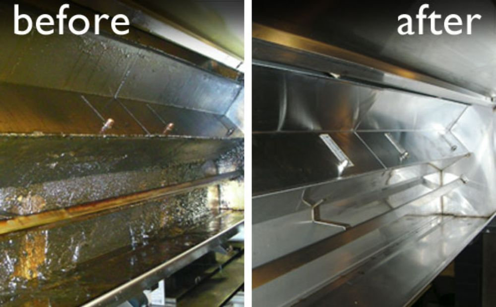 Kitchen hood and exhaust cleaning