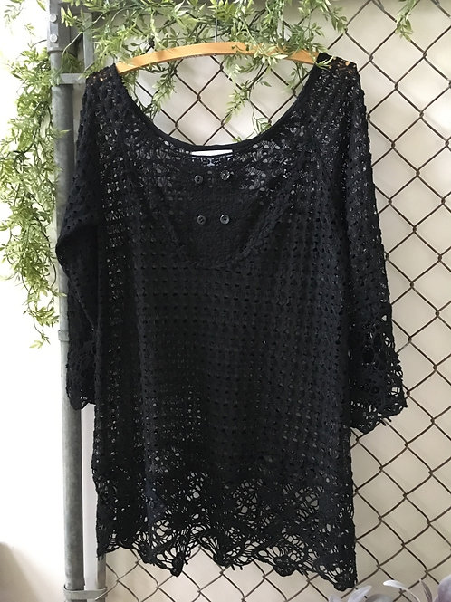 Lacey Black Tunic