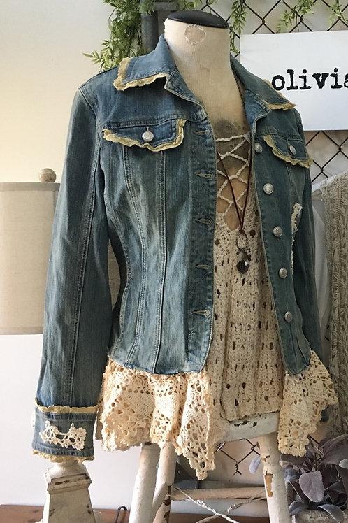 Vintage Tattered Lace Jacket