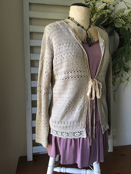 Cindy's Cardi with Vintage Lace