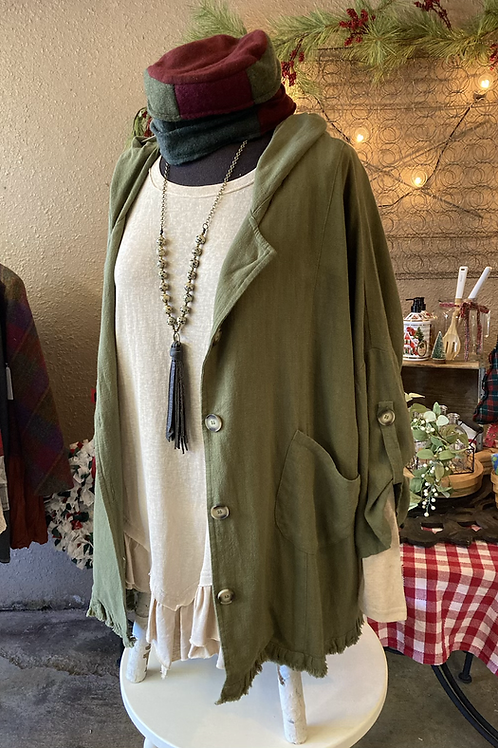Audrey's Olive Jacket (Curvy Girl)