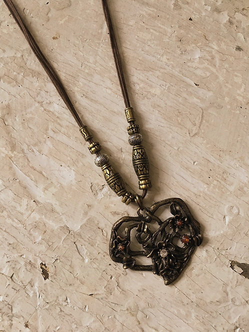 Rustic Boho Heart Necklace