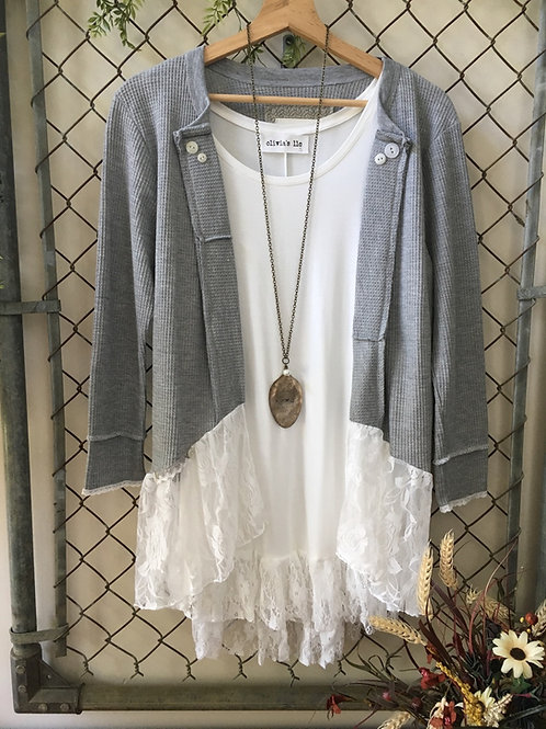 Gray Thermal Duster