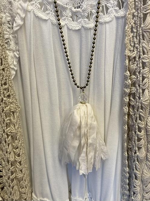 Ivory Tassel Necklace