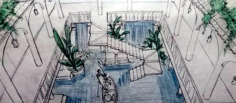 atrium concept sketch