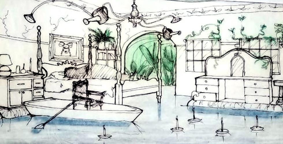 bedroom concept sketch