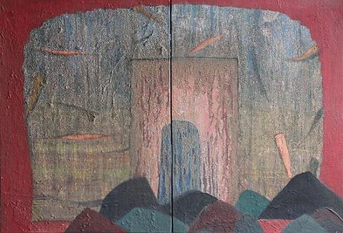Pascual Tarazona, Blanco & Melacotin / Pasion III, n.d.. Diptych.  R7800.00