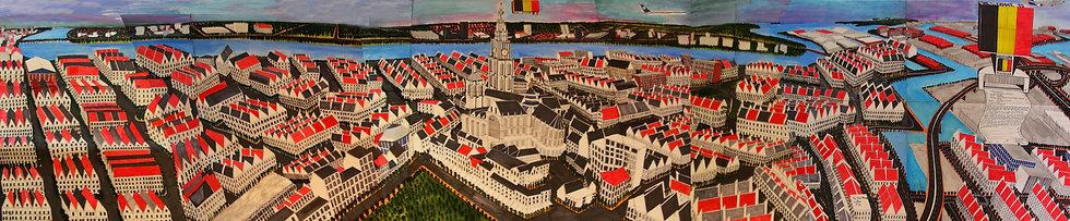 Titus Matiyane, Panorama of Antwerp, 2014. R60000.00