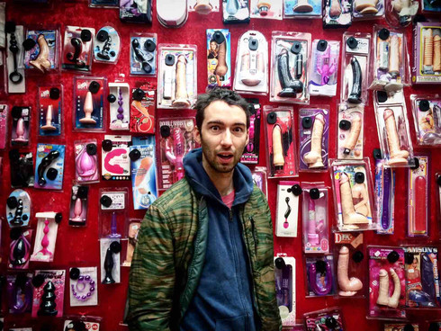 Just a funny photo of me in a sex shop