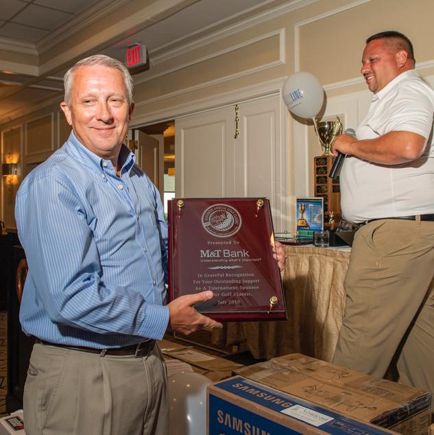 Roy Volmer, M&T Bank, Tournament Sponsors • Photo: Evan Angelastro